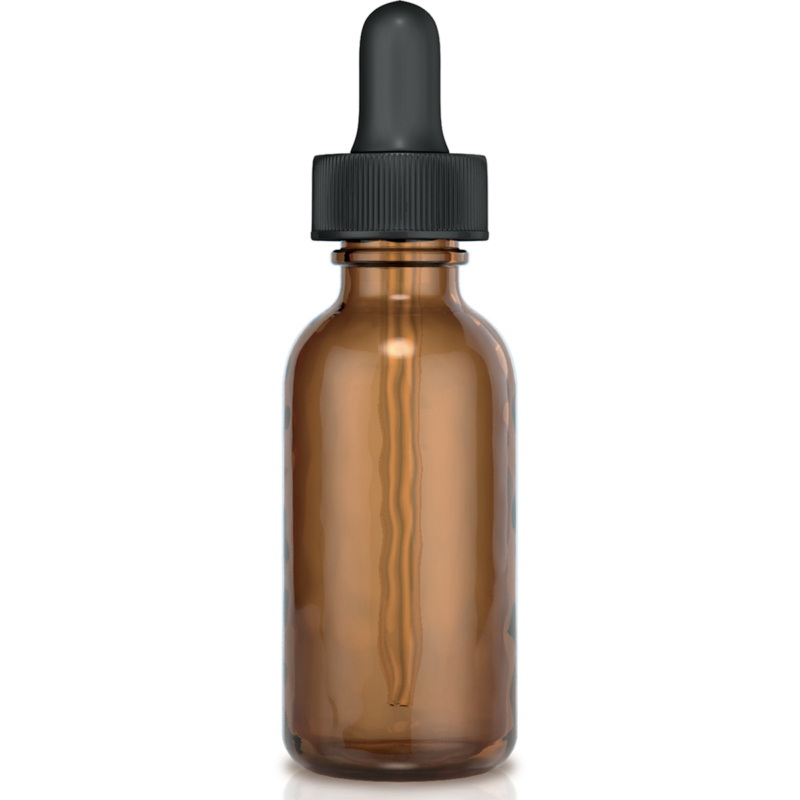 Private Label Packaging Boston Round Amber 1oz Bottle