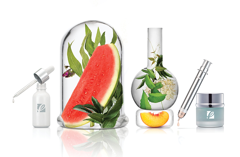 Why Partner with Cosmetic Solutions Image featuring various laboratory tools and natural ingredients