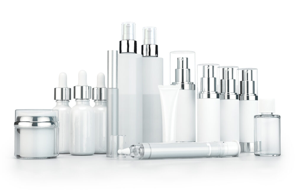 Private Label Packaging image, featuring an assortment of skin care packaging containers