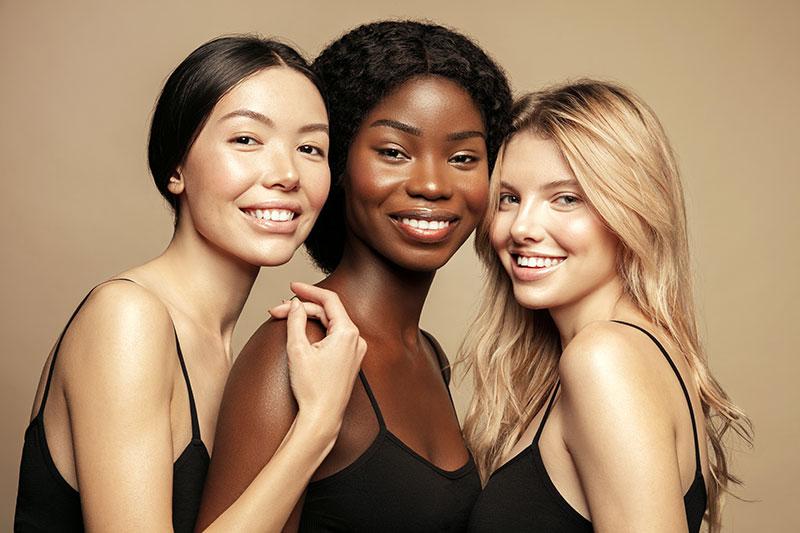 Established Brands image featuring a group of skincare models