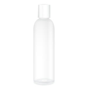 Private Label Packaging Clear Prince Cylinder Bottle