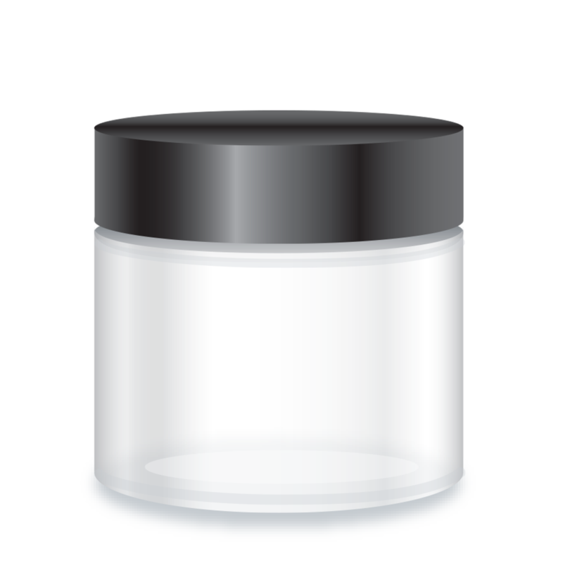 Private Label Packaging Clear Glass Jar
