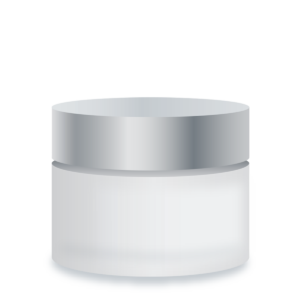 Private Label Packaging Glacier Frosted Glass Jar
