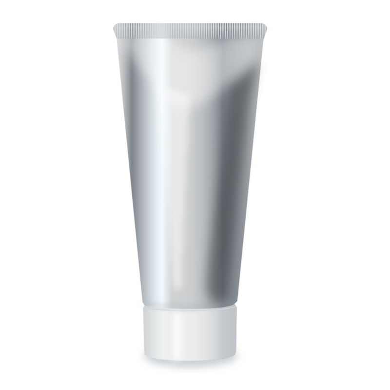 Private Label Packaging Silver Tube