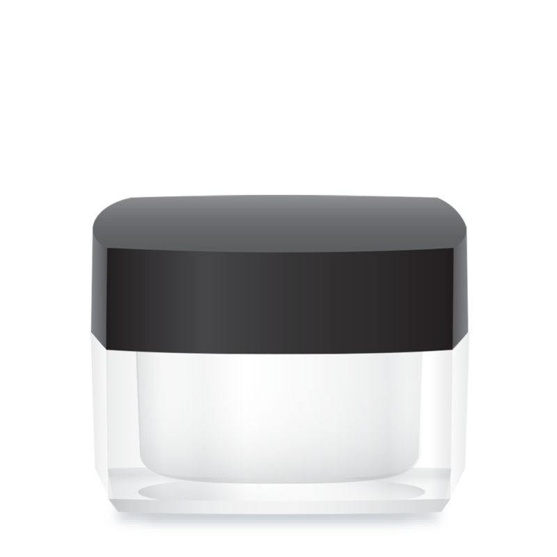 Private Label Packaging Square Acrylic Jar