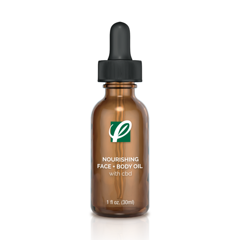 Private Label Nourishing Face And Body Oil With CBD