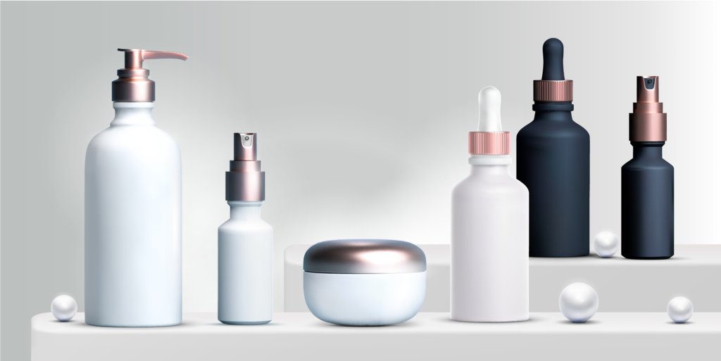 Cosmetic Solutions Content Restricted Page Top Banner Image features a variety of Private Label Skincare Products